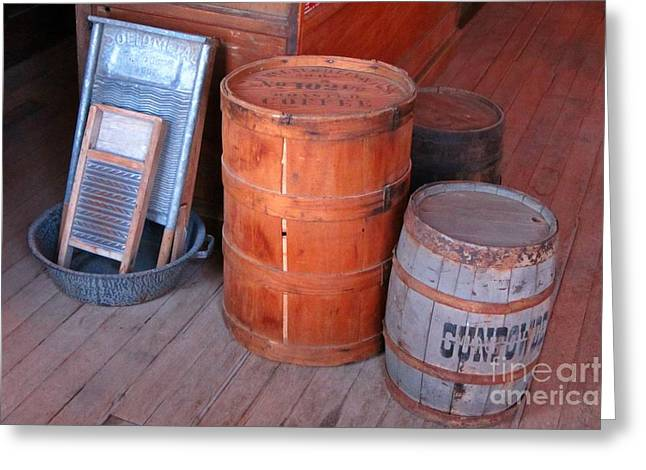 Old Washboards Photographs Greeting Cards - Antique Western Still Life Greeting Card by John Malone