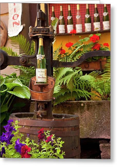 Antique Wine Bottle Cork Press Greeting Card by Brian Jannsen