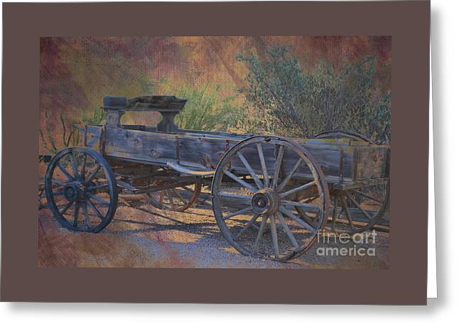 Antique Wooden Wagon Greeting Card by Beverly Guilliams