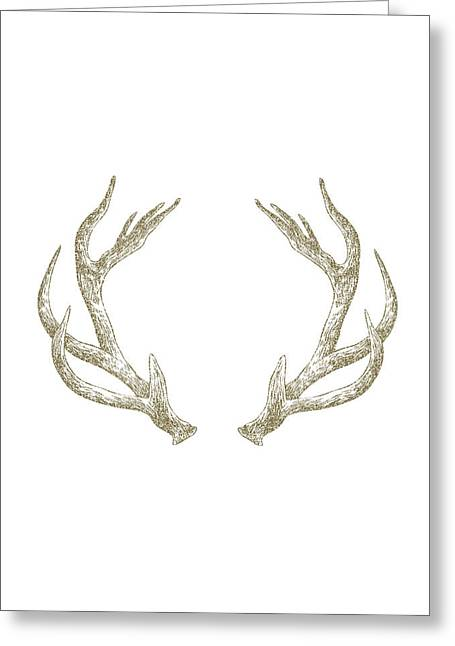 Antlers Greeting Card by Randoms Print