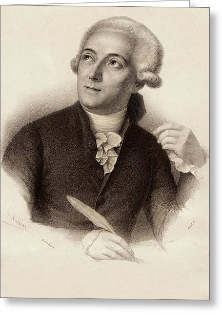 Antoine Lavoisier Greeting Card by Gregory Tobias/chemical Heritage Foundation