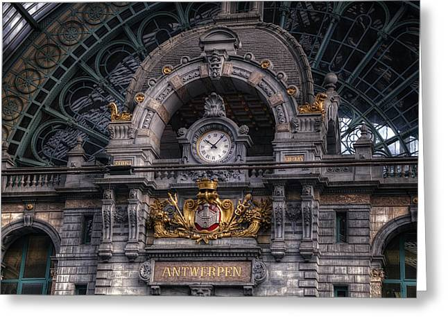 Antwerp Central Greeting Card by Joan Carroll