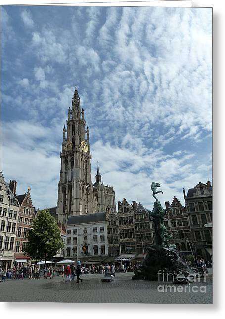 Faa Featured Greeting Cards - Antwerp Greeting Card by Zori Minkova