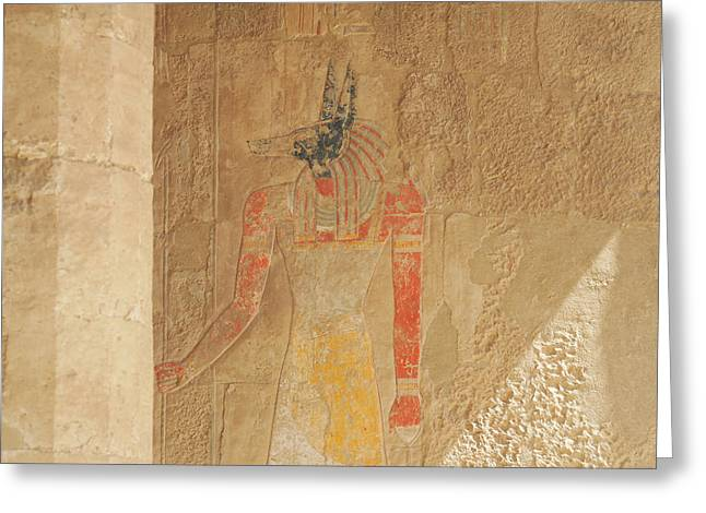 Guard Dog Greeting Cards - Anubis ..usherer of souls.. Greeting Card by A Rey