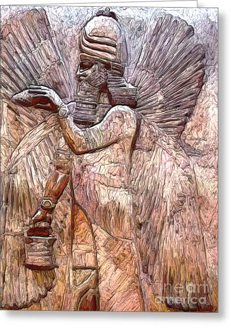 Iraq Paintings Greeting Cards - Anunnaki 1 Greeting Card by GCannon