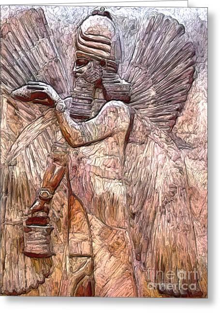 Babylon Paintings Greeting Cards - Anunnaki 1 Greeting Card by GCannon