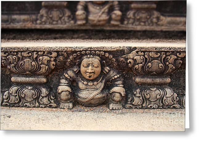 Anuradhapura carving Greeting Card by Jane Rix