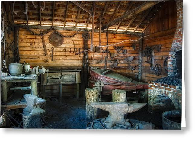 Handwork Greeting Cards - Anvil and Forge Greeting Card by Rich Leighton