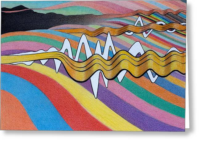Surreal Landscape Drawings Greeting Cards - Any Color you Like Greeting Card by Ben Sapia