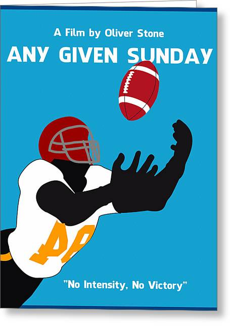 Any Greeting Cards - Any Given Sunday Minimalist Movie Poster Greeting Card by Adam Asar