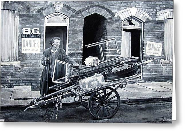 Street Scenes Photographs Greeting Cards - Any Old Iron, 2007 Oil Greeting Card by Kevin Parrish