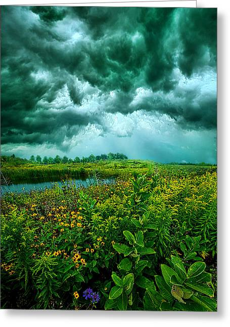 Summer Storm Greeting Cards - Any Port Greeting Card by Phil Koch