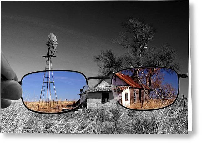 Colorkey Digital Greeting Cards - ANY price eye glasses Greeting Card by Christopher McKenzie