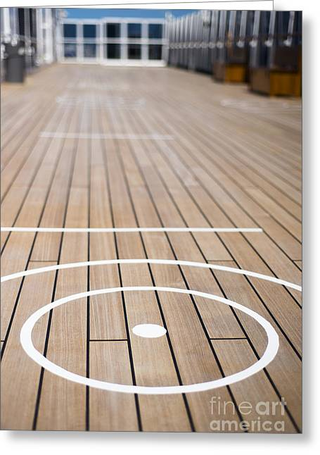 Wooden Ship Greeting Cards - Anyone for Quoits Greeting Card by Anne Gilbert