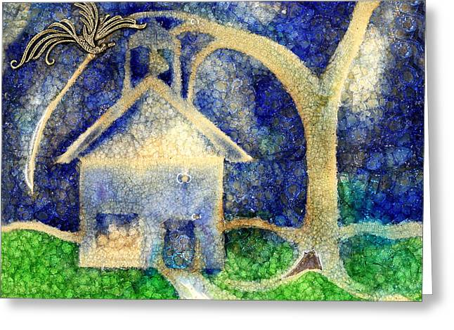 With Glass Art Greeting Cards - Anyone Lived In A Pretty How Town Greeting Card by Jane Autry
