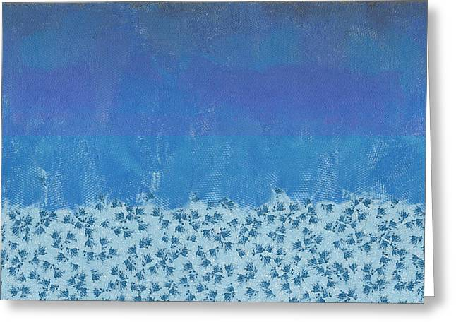 Anything But Blue Holiday Blues Greeting Card by Lorri Crossno