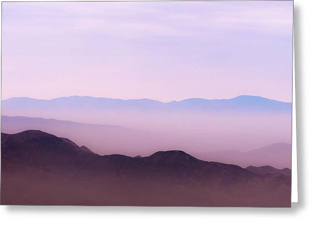 Desert Greeting Cards - Anza-Borrego Blue Ridge Greeting Card by Joseph Smith