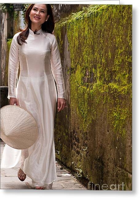 Southeast Asian Greeting Cards - Ao Dai 03 Greeting Card by Rick Piper Photography