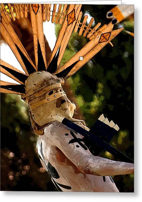Native American Greeting Cards - Apache Dancer Greeting Card by Joe Kozlowski