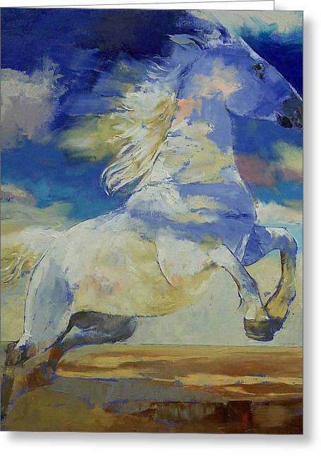 Cheval Greeting Cards - Apache Dreaming Greeting Card by Michael Creese