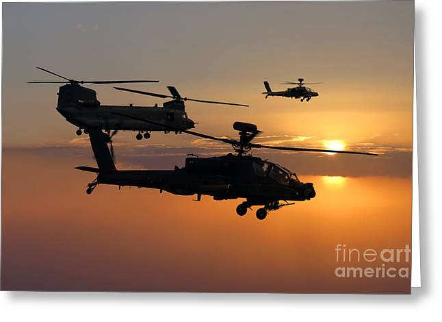 Bastion Greeting Cards - Apache Escort  Greeting Card by J Biggadike