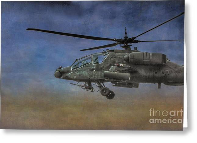 Iraq Prints Greeting Cards - Apache Morning Patrol Greeting Card by Randy Steele