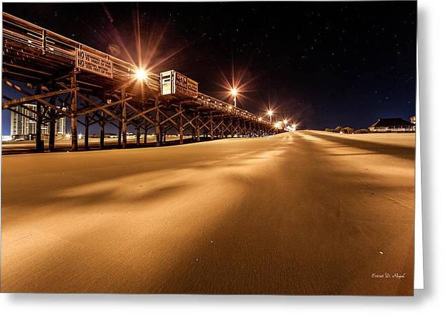 Myrtle Greeting Cards - Apache Pier I Greeting Card by Everet Regal