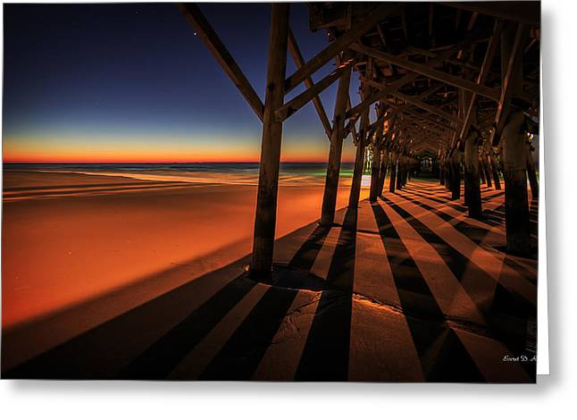 Myrtle Greeting Cards - Apache Pier II Greeting Card by Everet Regal