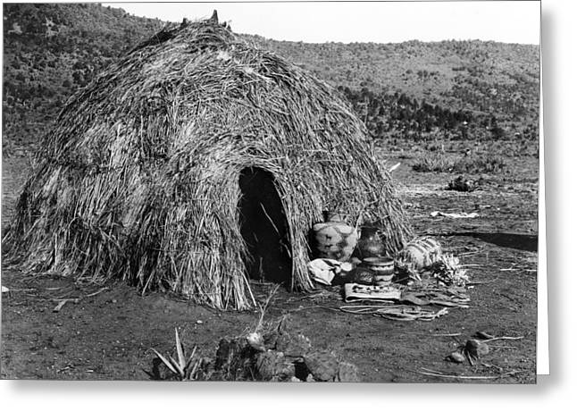 Apache Wickiup, C1903 Greeting Card by Granger
