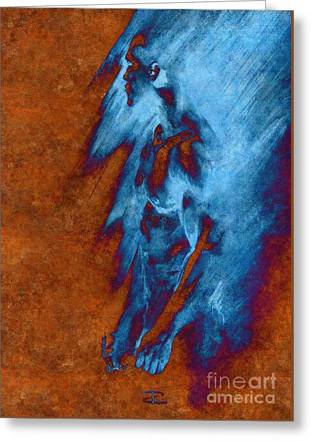 Emotional Gestures Greeting Cards - Apart with Mood Texture Greeting Card by Paul Davenport