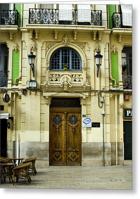 Store Fronts Greeting Cards - Apartment Entrance - Alicante Spain Greeting Card by Kevin Bain