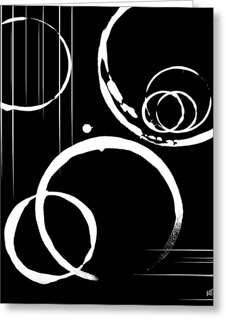 Abstract Shapes Greeting Cards - Apathy Greeting Card by Melissa Smith
