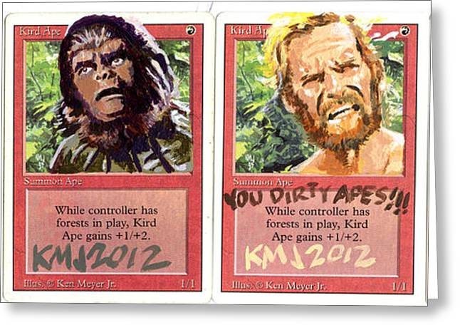 Planet Of The Apes Greeting Cards - Apes is apes Greeting Card by Ken Meyer jr
