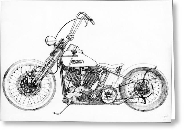 Circuit Drawings Greeting Cards - Apes Greeting Card by Stephen Brooks