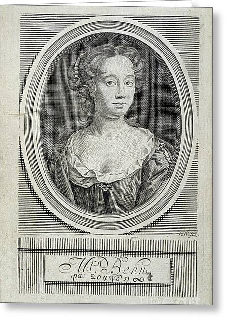 Occasion Greeting Cards - Aphra Behn Greeting Card by British Library
