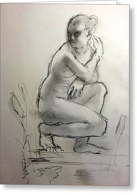 Figure Drawing Greeting Cards - Aphrodite Greeting Card by H James Hoff