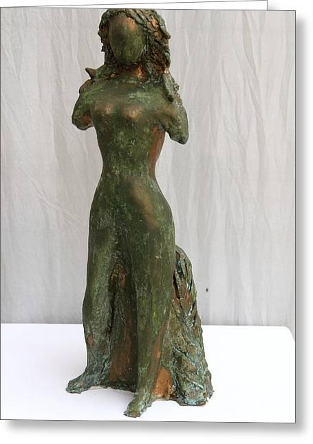 Goddess Sculptures Greeting Cards - Aphrodite Greeting Card by Ingrid Edith Zobel