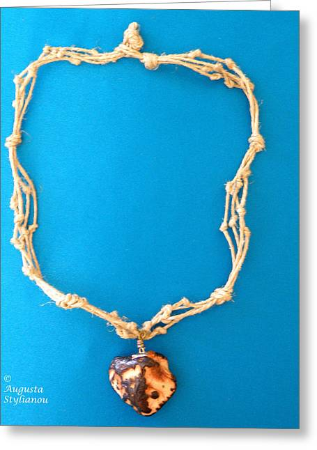White Jewelry Greeting Cards - Aphrodite Morpho Necklace Greeting Card by Augusta Stylianou