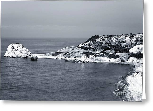 Recently Sold -  - Greek School Of Art Greeting Cards - Aphrodites Coast Greeting Card by John Rizzuto