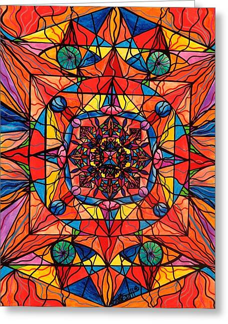Healing Image Greeting Cards - Aplomb Greeting Card by Teal Eye  Print Store
