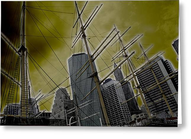 Apocalypse at NYC Greeting Card by Coqle Aragrev
