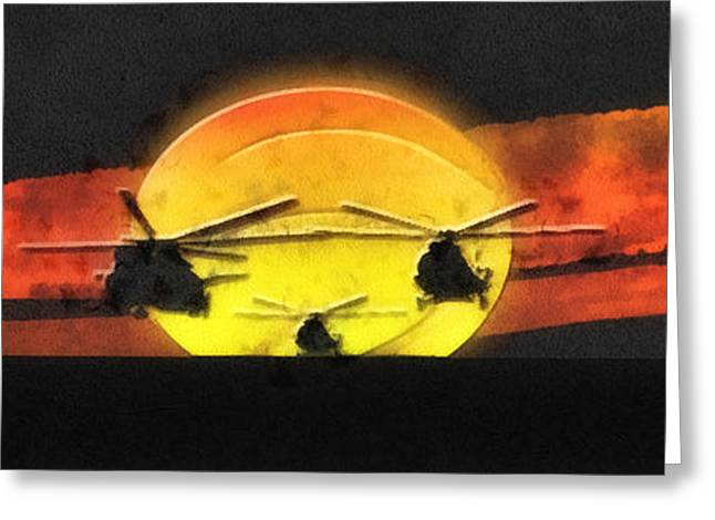 Weapon Mixed Media Greeting Cards - Apocalypse Now Greeting Card by Mo T