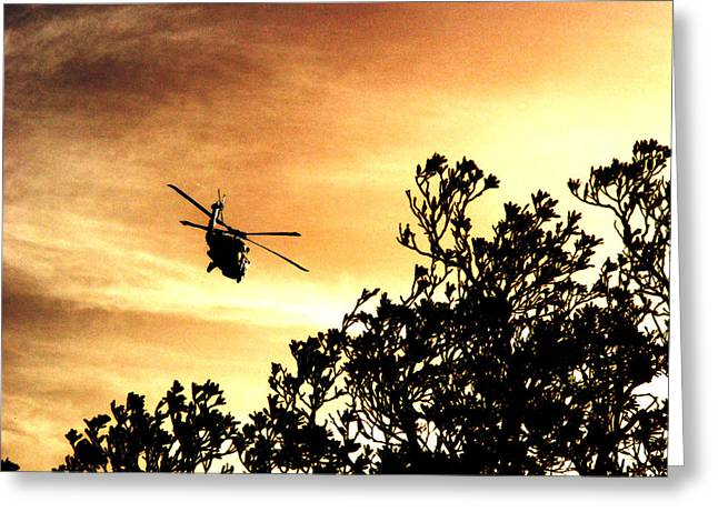 Justin Woodhouse Greeting Cards - Apocalypse Now over Sunburnt Skies Greeting Card by Justin Woodhouse