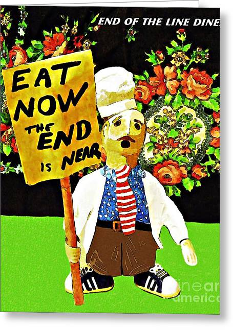 White Sneakers Greeting Cards - Apocalyptic Chef Greeting Card by Sarah Loft