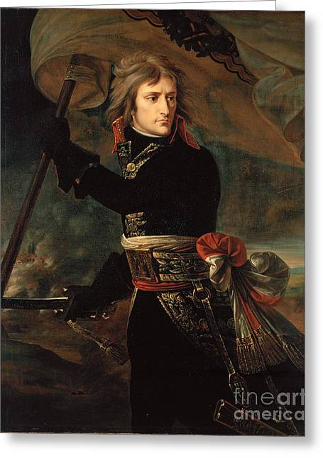 Water Posters Greeting Cards - apoleon Bonaparte on the Bridge at Arcole Greeting Card by Gros Antoine-Jean baron