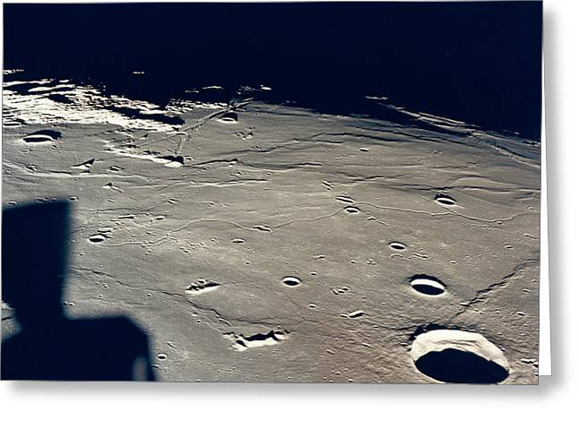 Apollo 11 Landing Site 2 Greeting Card by Underwood Archives