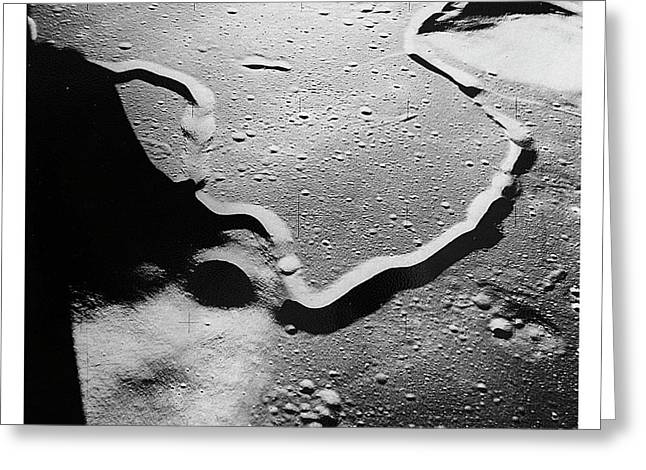 Apollo 15 Landing Site Greeting Card by Nasa/detlev Van Ravenswaay