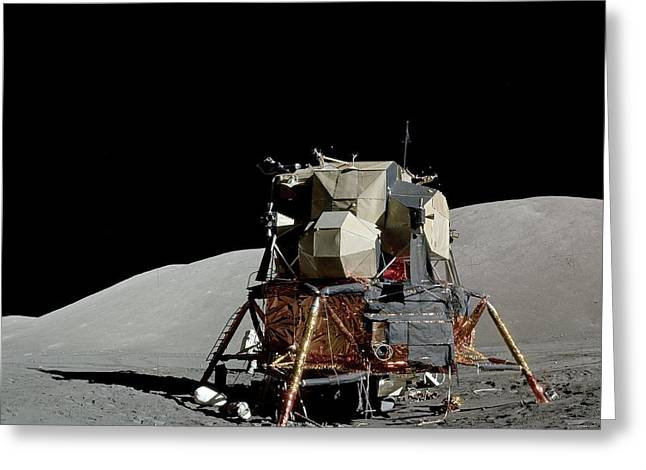 Apollo 17 Lunar Module, Astronaut Photo Greeting Card by Science Photo Library