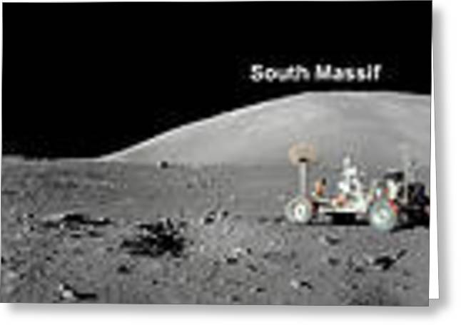 Abstract Digital Photographs Greeting Cards - Apollo 17 Station Greeting Card by Celestial Images
