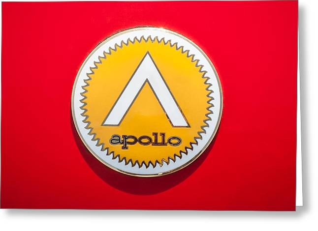 Apollo Greeting Cards - Apollo 5000 GT Emblem -0304c Greeting Card by Jill Reger
